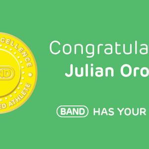 Congratulations Julian Orozco, #BANDhasYourBack!
