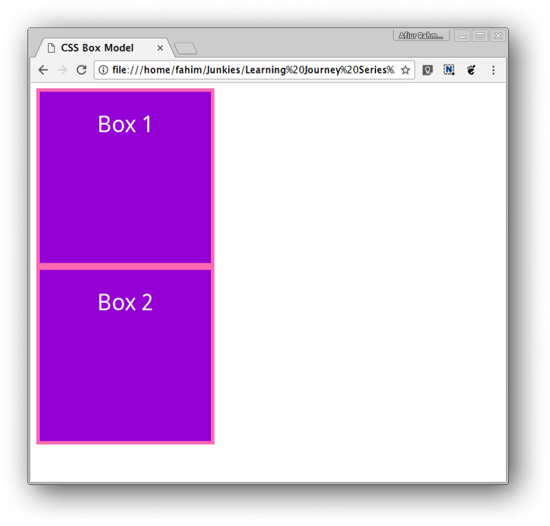 Two box without margin in between