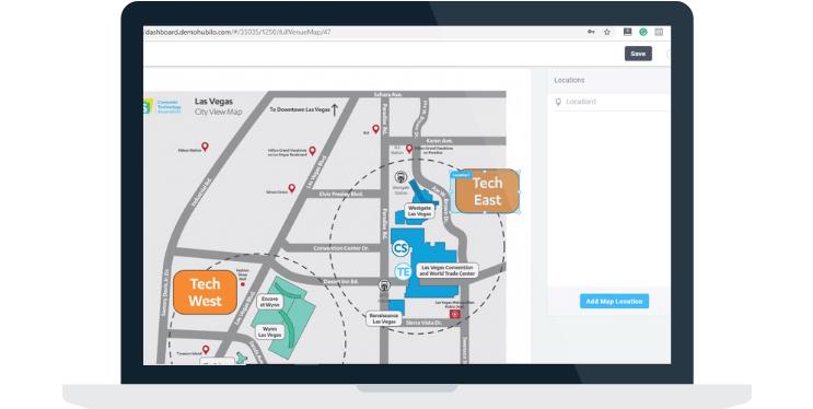 interactive event venue maps