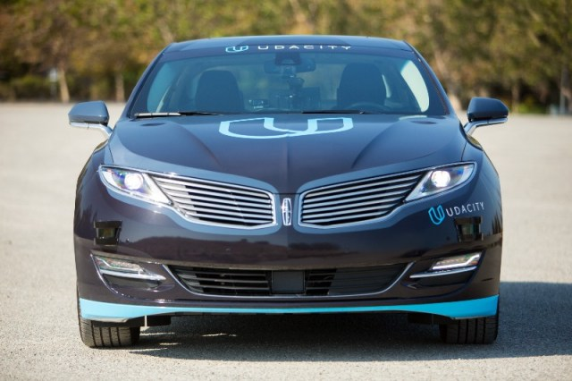 The Lincoln MKZ used by Udacity for the Self-Driving car project