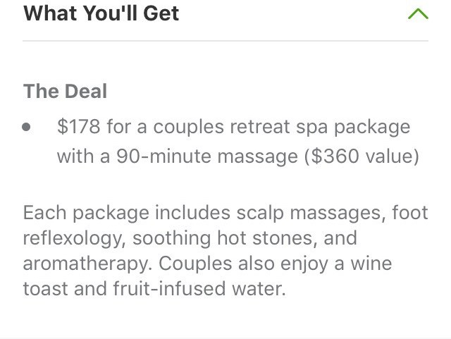 Groupon, Deal, Groupon Deal, Spa, Body and Soul Retreat, Body and Soul Retreat Spa, Couple's massage, couples massage, massage package