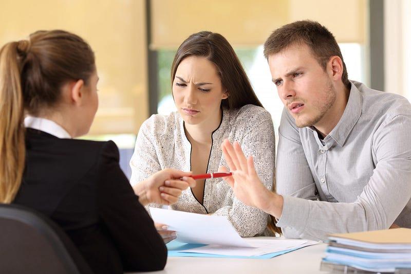 Clients arguing
