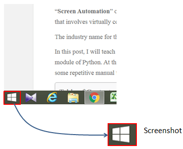 locate on image and click windows icon