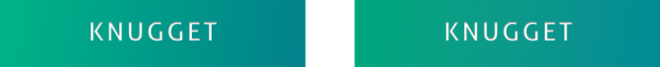 Image of before and after using the gradient plugin on a green button.