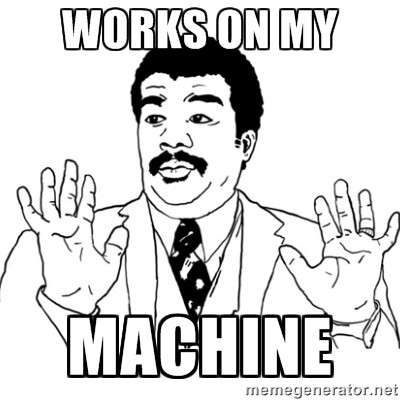 Na minha máquina funciona