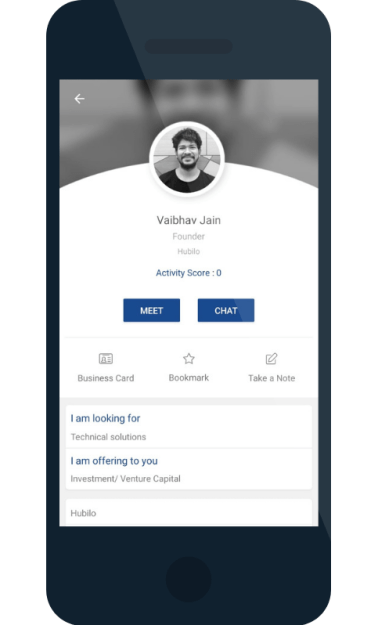 vibrant gujarat app networking section
