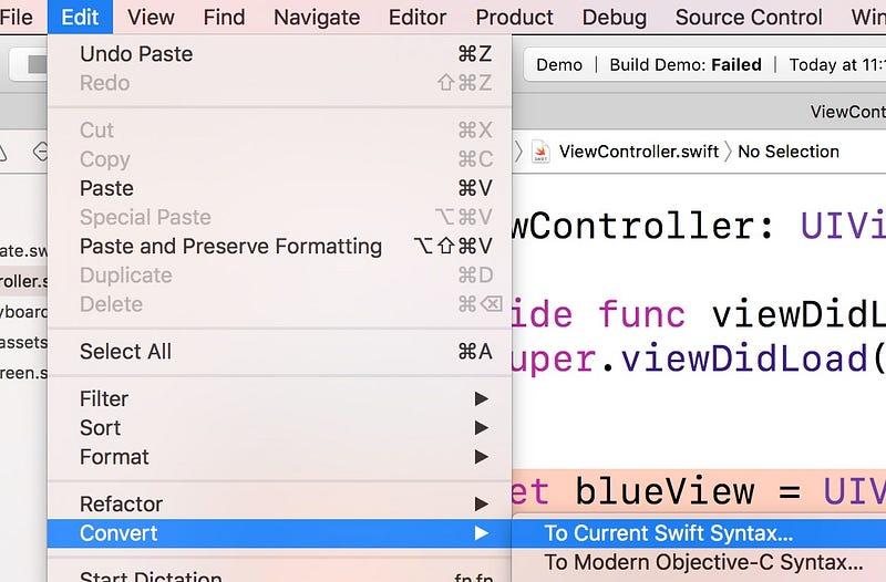 光速將Swift 2程式碼升級為Swift 3的Xcode 8 – 彼得潘的 iOS App Neverland – Medium