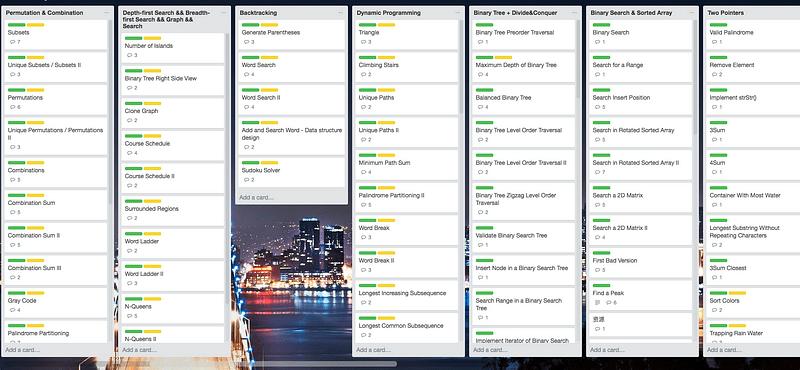 i used a trello board to organize - Grace Hopper Resume Database