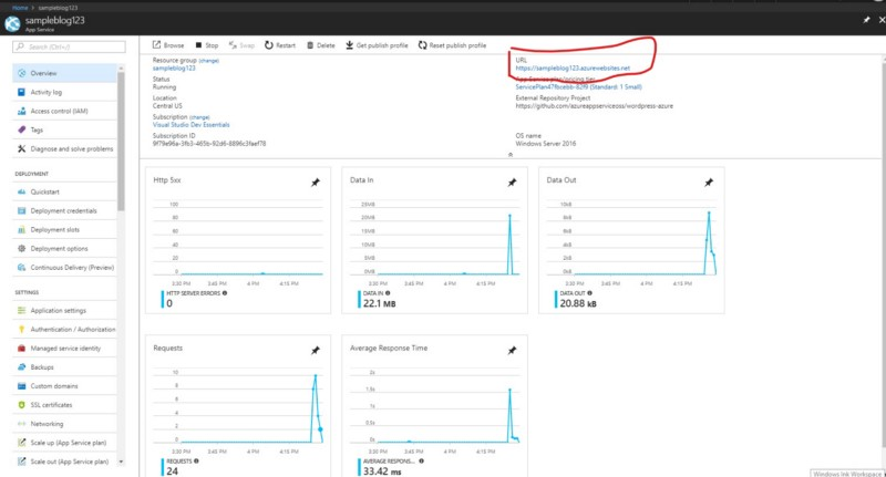 How to host WordPress site on Microsoft Azure