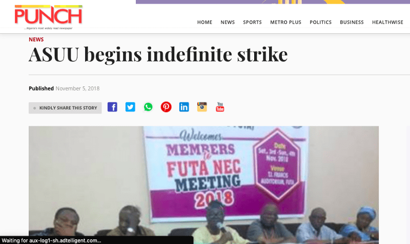 ASUU Strike information