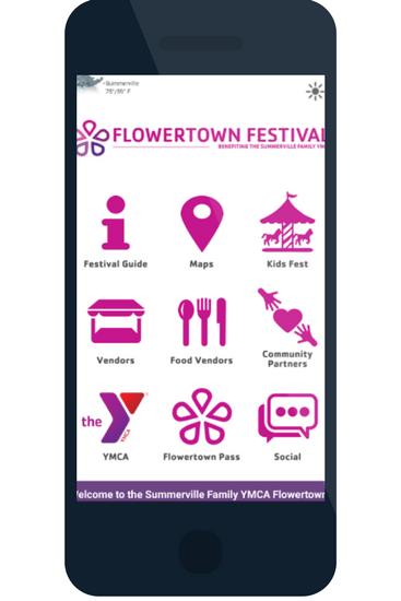 Flowertown festival event apps