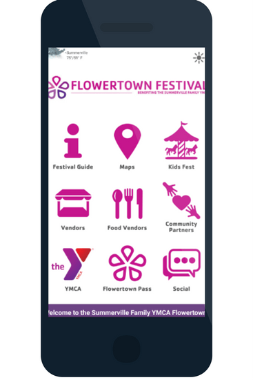 Flowertown festival event apps