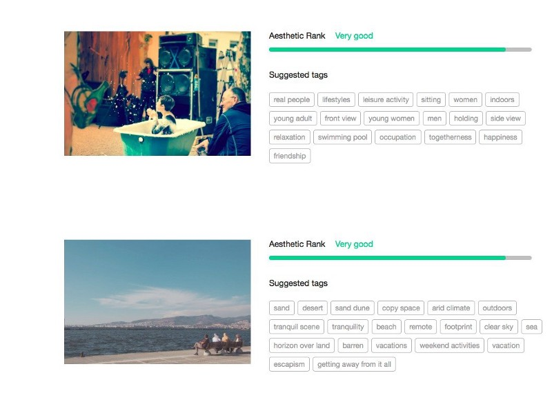 Using content recognition, EyeEm's EyeVision can tell what you're taking photographs of.