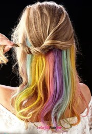 trending hidden rainbow hair