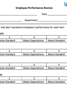 templates for  variety of performance review situations also free employee word pdf  excel rh uptickhr