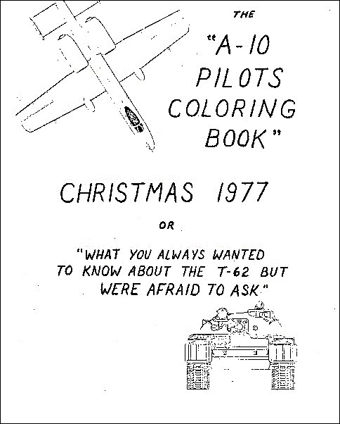 Cold War Coloring Book Taught A-10 Pilots to Kill Soviet Tanks