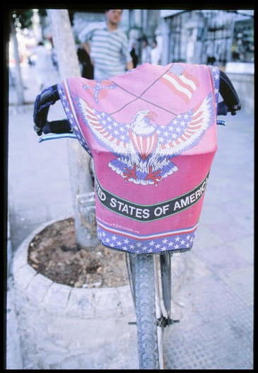 Bicycle with American Flag, Damascus, Syria, 2001.
