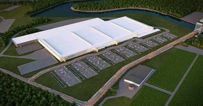 Artist's rendering of the SolarCity factory in Buffalo. CREDIT: SolarCity