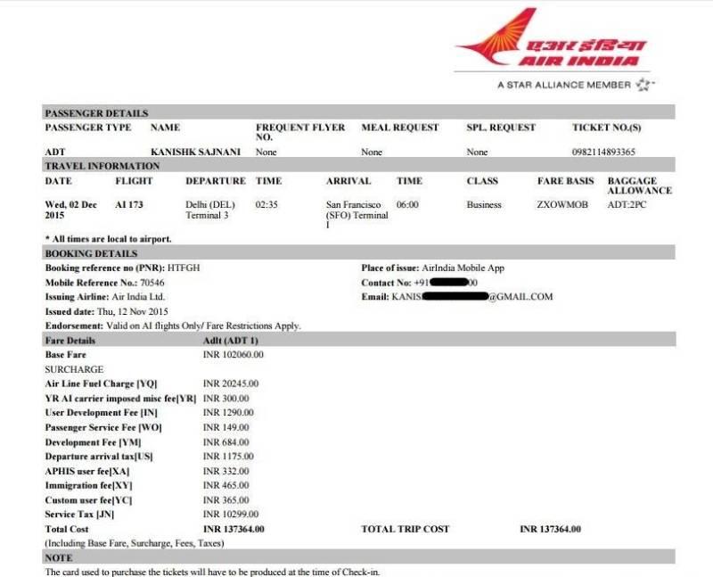 Air India Travel Certificate Myvacationplan
