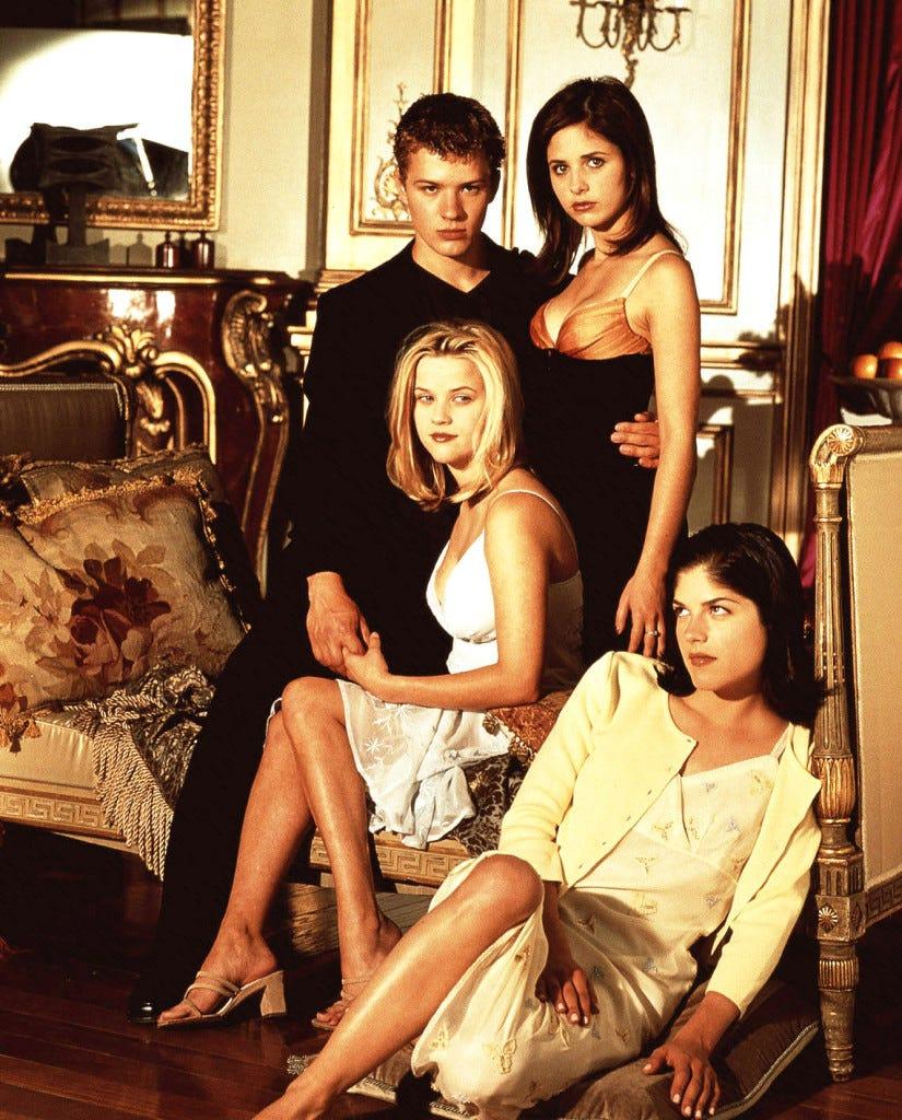 Sebastian Valmont, Kathryn Merteuil, Annette Hargrove e Cecile Caldwell. Rei, Rainha e os dois peões nesse jogo de poder e sedução.