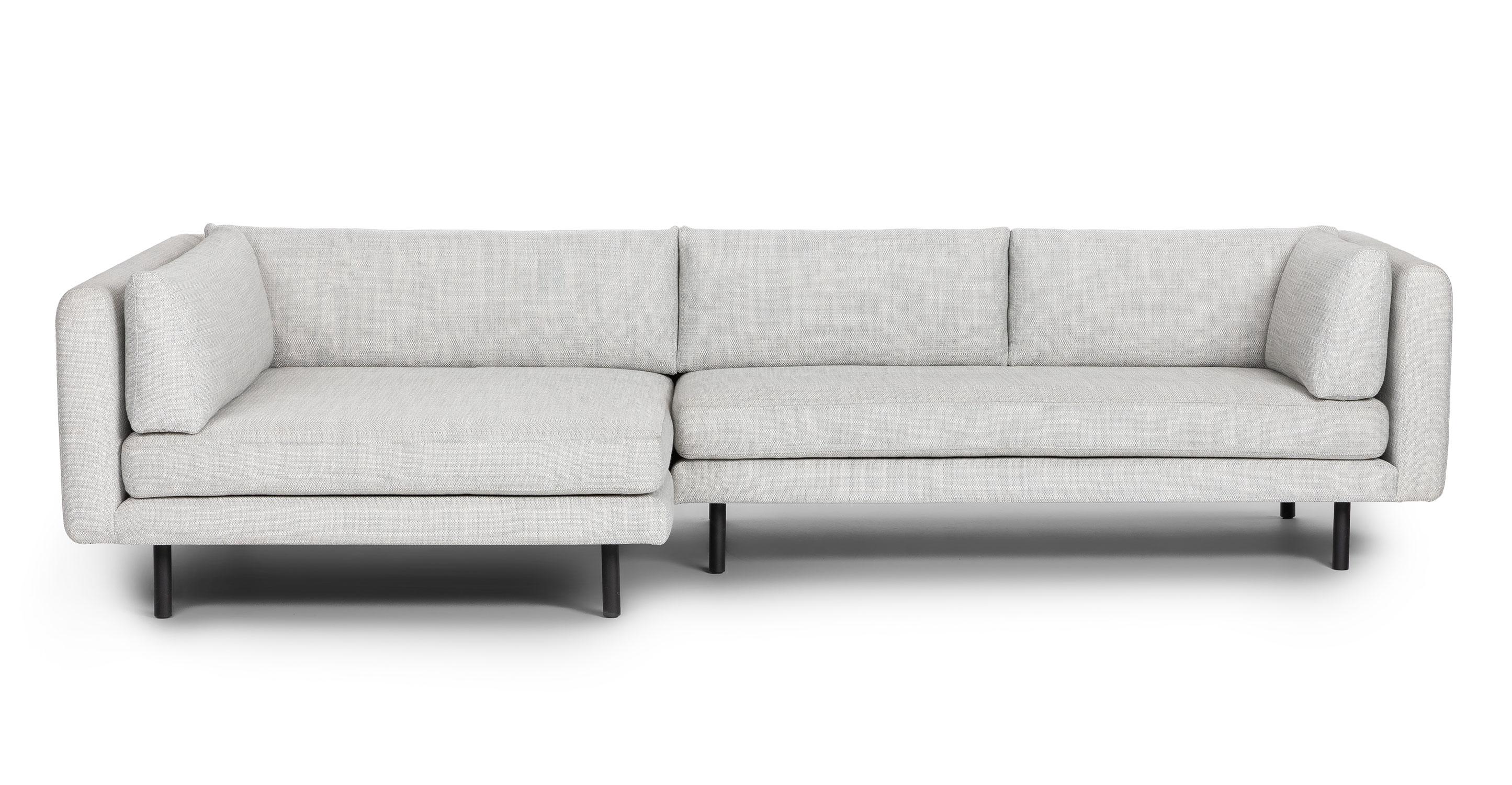 lappi serene gray left sectional sofa