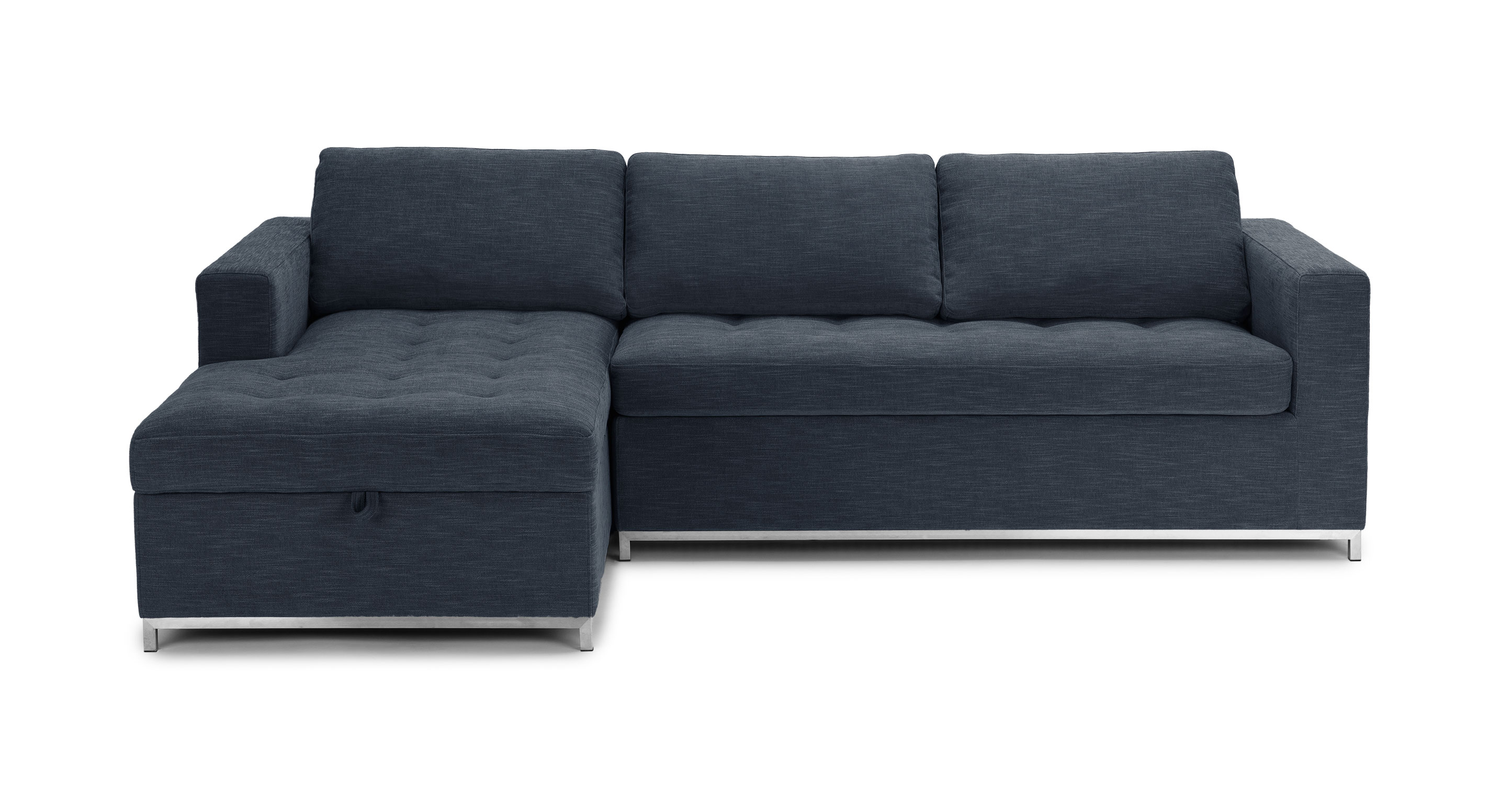 midnight blue sofa metal garden furniture soma left bed article