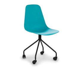 Aqua Desk Chair Skirted Parsons Chairs Svelti Poolside Office Article