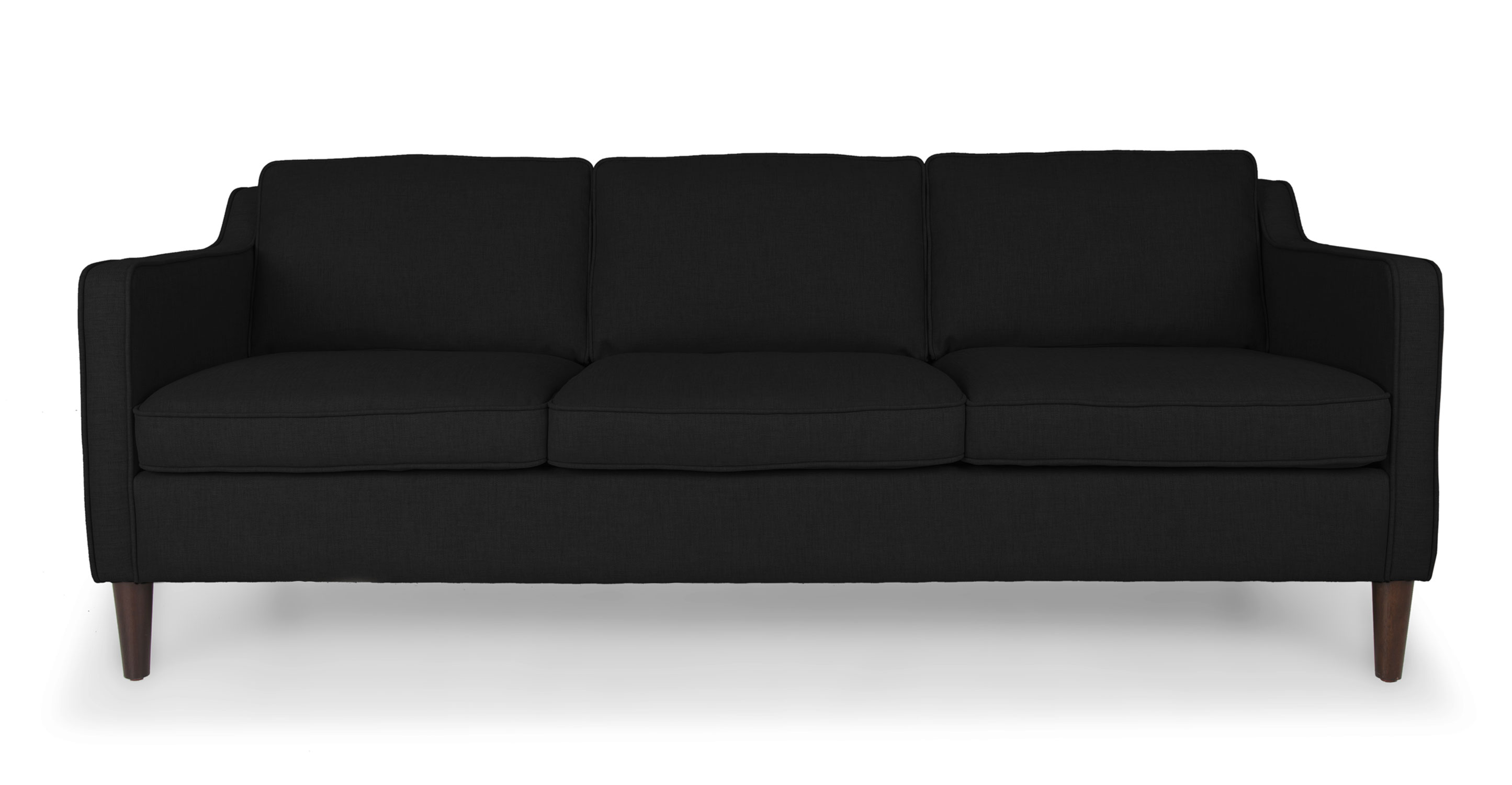 mid century style sofa canada beds hk cherie graphite black sofas article modern