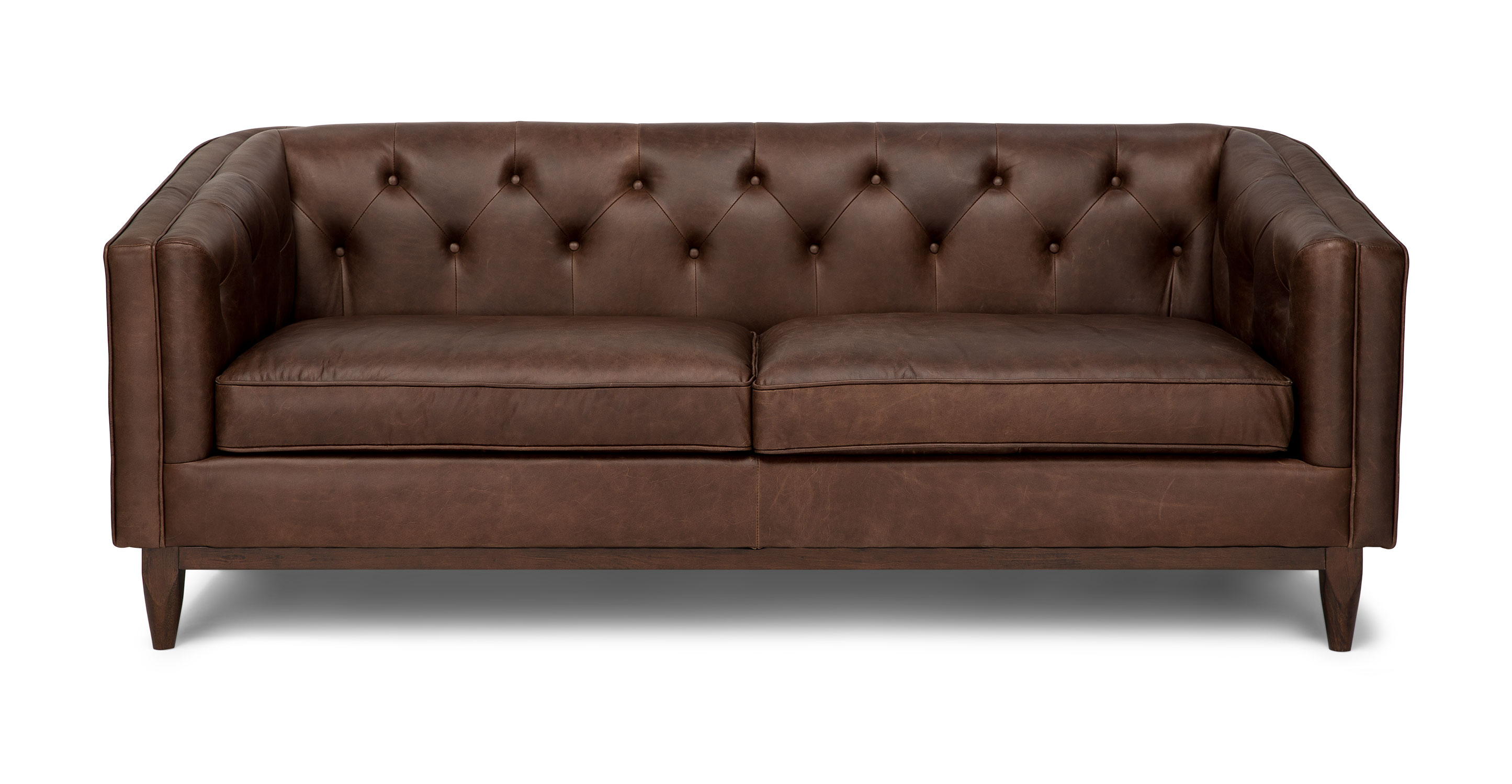 oxblood red chesterfield sofa tribeca grand crate and barrel leather second
