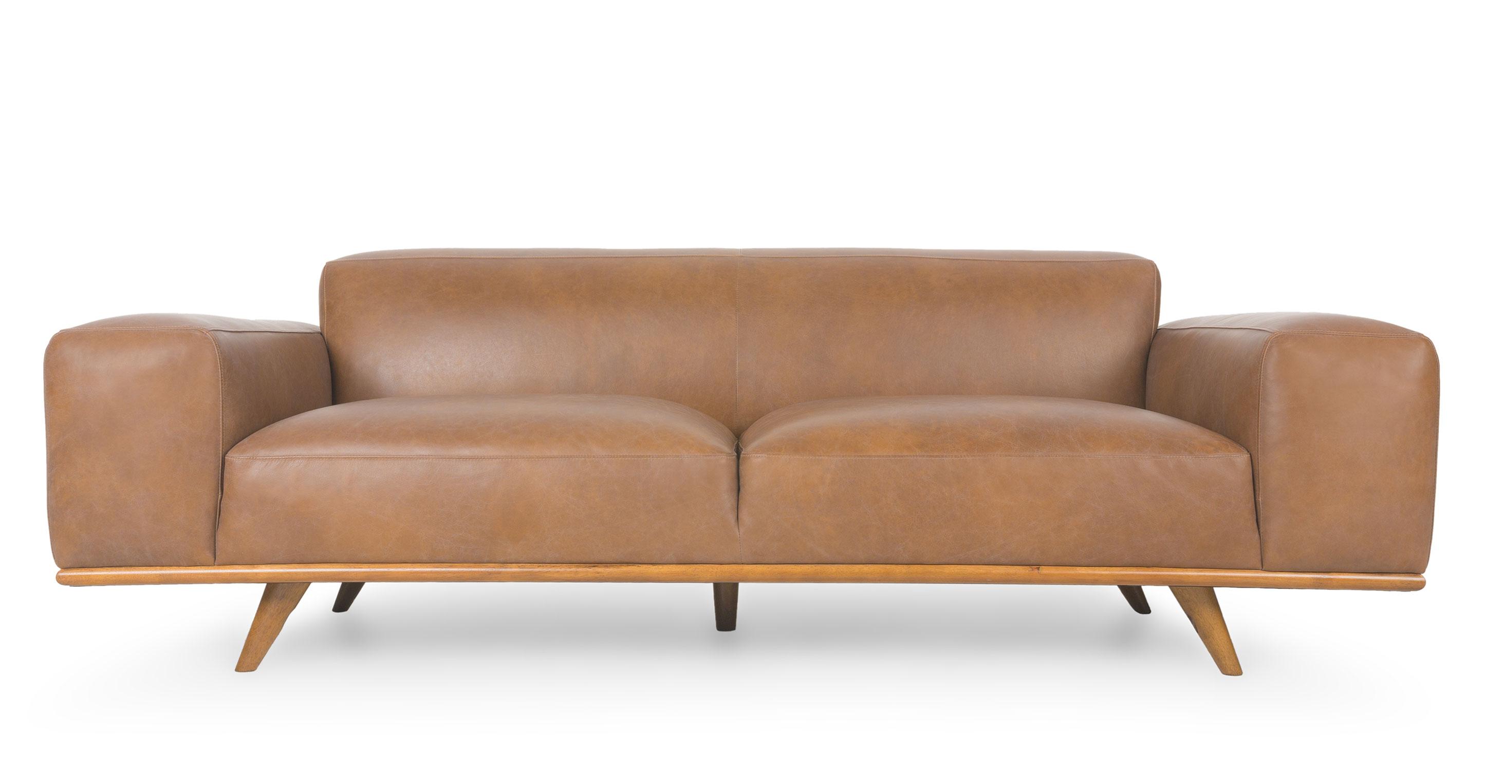 mid century style sofa canada modern sleeper comfortable snug oxford tan sofas and ottomans article