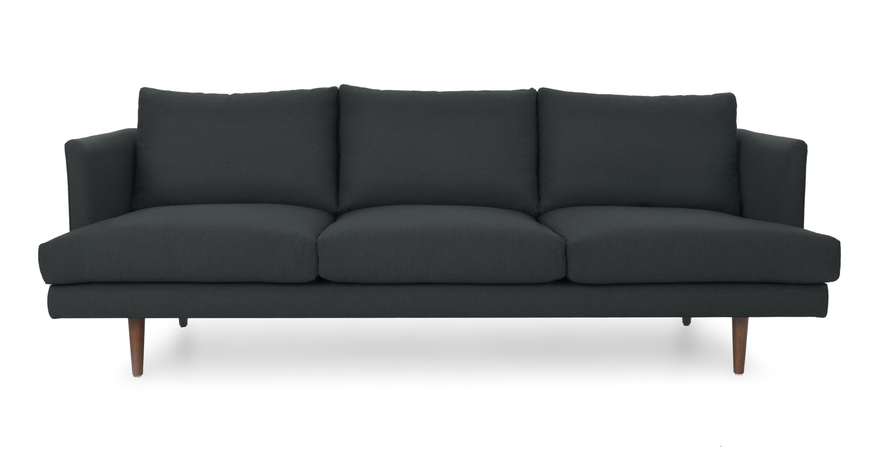 mid century style sofa canada leather world birmingham reviews carl basalt gray sofas article modern