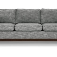 Mid Century Style Sofa Canada Wicker Sofas Worthington Pebble Gray Article Modern