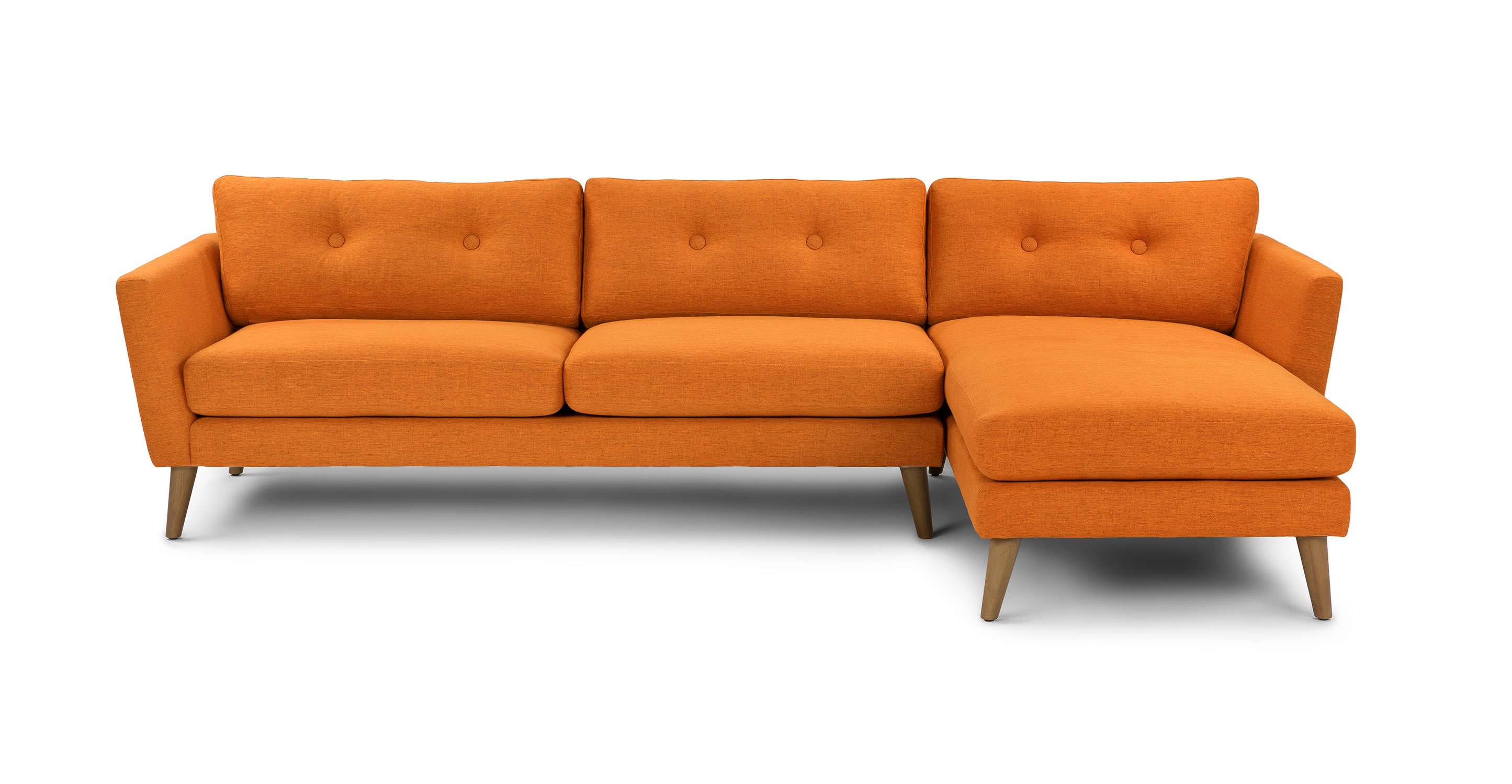 down sofas canada trundle mattress sleeper sofa emil papaya orange right sectional sectionals article