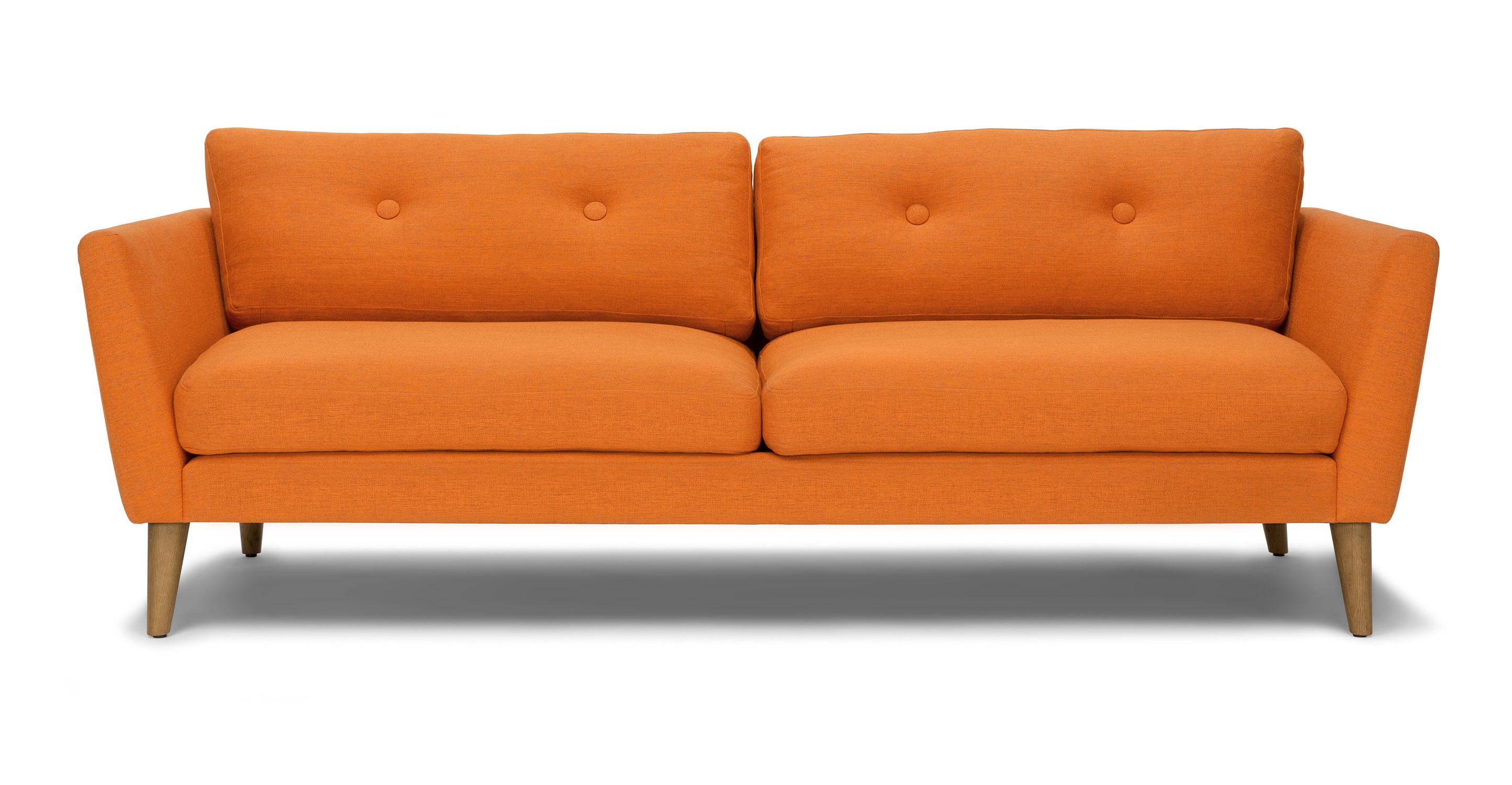 Emil Papaya Orange Sofa  Article