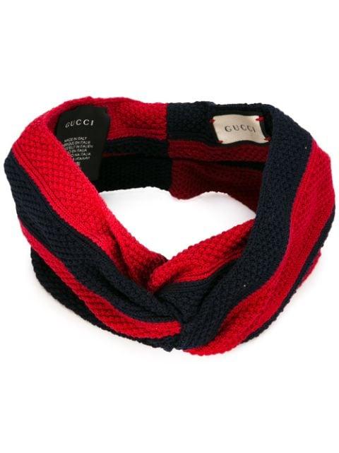 Gucci Striped Knitted Headband Farfetch