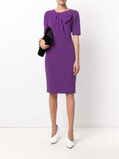 Boutique Moschino bow detail pencil dress
