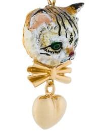 DOLCE & GABBANA Kitten Earrings in Gold   ModeSens