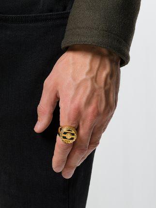 Versace 3D Greek Key Medusa Ring  Farfetch