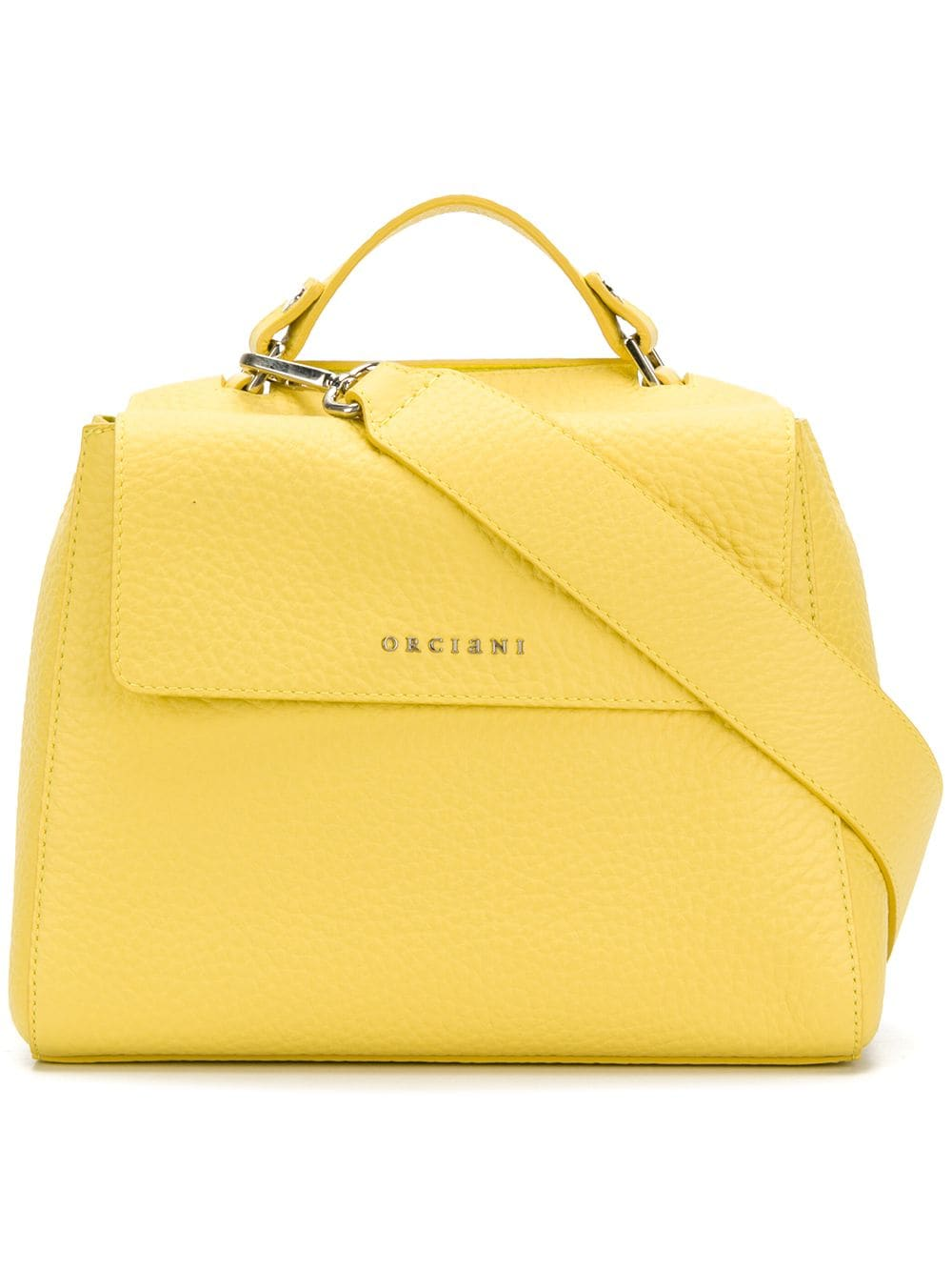 Orciani: Yellow Flap Tote