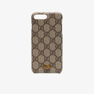 Gucci Brown, Black And Silver Brown Ophidia Iphone 8 Plus Case