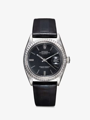 La Californienne Womens Black Reworked Vintage Rolex Oyster Perpetual Datejust Watch