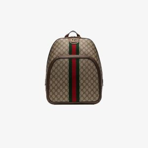 Gucci Mens Brown Ophidia Gg Print Backpack