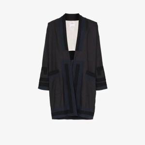 Visvim Mens Blue Contrast Detail Kimono Jacket