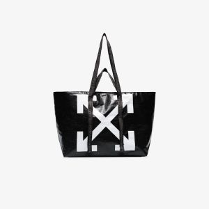 Off-white Womens Black Commercial Arrow Logo Tote