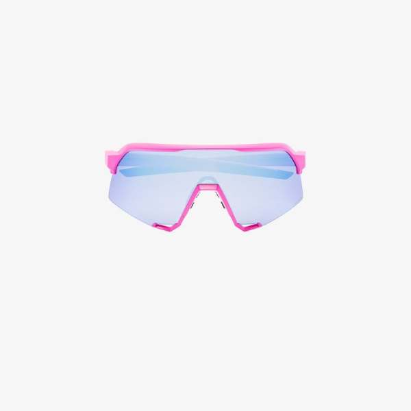 100% Eyewear Mens Pink And Blue S3 Interchangable Lens Unglasses
