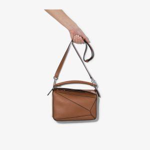 Loewe Womens Brown Small Puzzle Shoulder Bag
