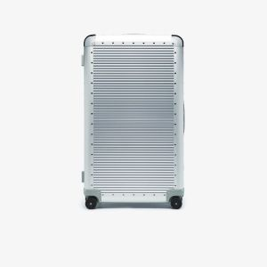 Fpm Milano Silver Tone Bank S Spinner 84 Suitcase