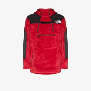 The North Face Black Series Red Kk Fleece Hooded Jacket