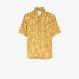 Visvim Mens Neutrals Printed Boxy Shirt