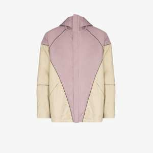 Paria Farzaneh Mens Neutrals Diamond Hooded Jacket